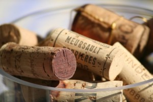 Some of the corks from previous Women's Day Lunches